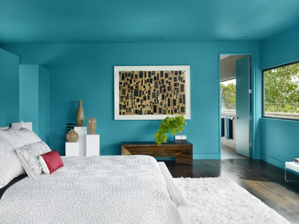 25 paint color ideas for your home for Blue bedroom colors