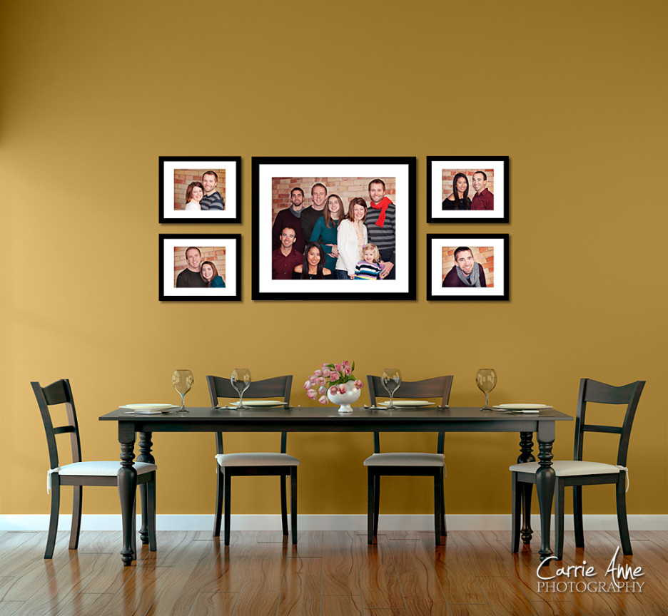 25 wall decoration ideas for your home Family pictures on living room wall