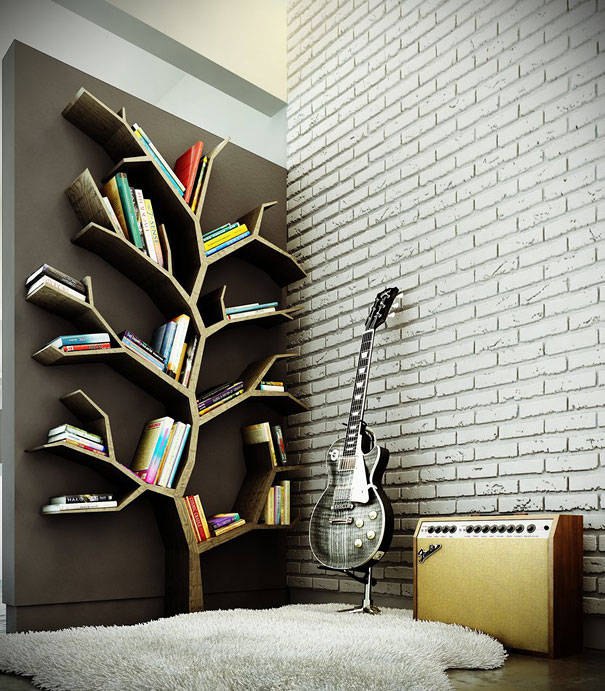 25 ideas of decorating wih books (02)