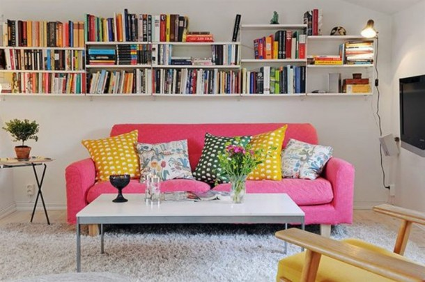 25 ideas of decorating wih books (19)