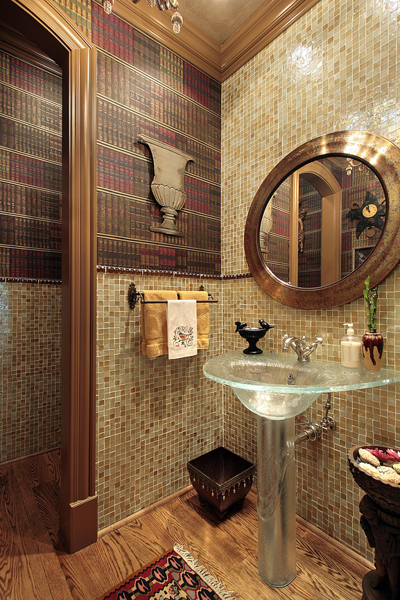 Luxury powder room