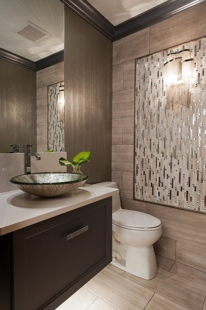 25 perfect powder room design ideas for your home for Bathroom wall remodel ideas