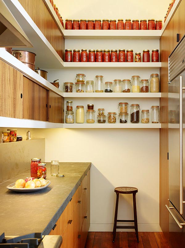 Open Shelving Kitchen Ideas Wood Pantry Shelving Walk In: 25 Great Pantry Design Ideas For Your Home