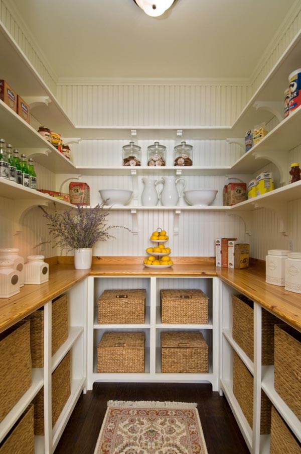 25 great pantry design ideas for your home for Country kitchen pantry ideas