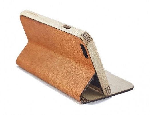 5. Grovemade Maple and Leather Case ($129)