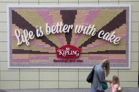 Billboard made from cake