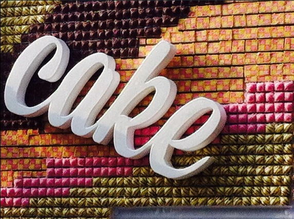 Billboard made from cake3