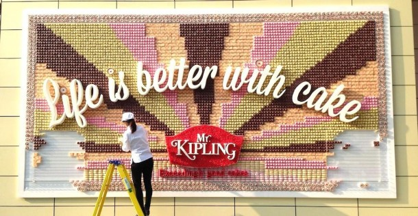 Billboard made from cake4