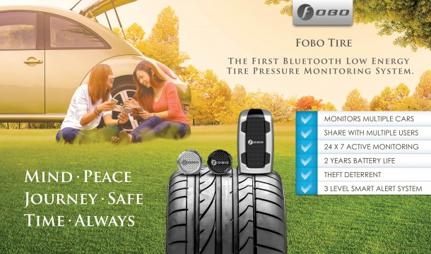 Bluetooth Tire Pressure Monitoring System by Fobo 8