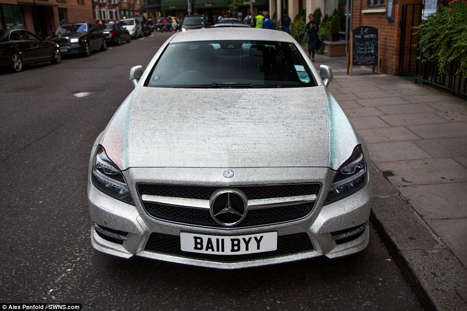 Crystal Covered Mercedes CLS 350