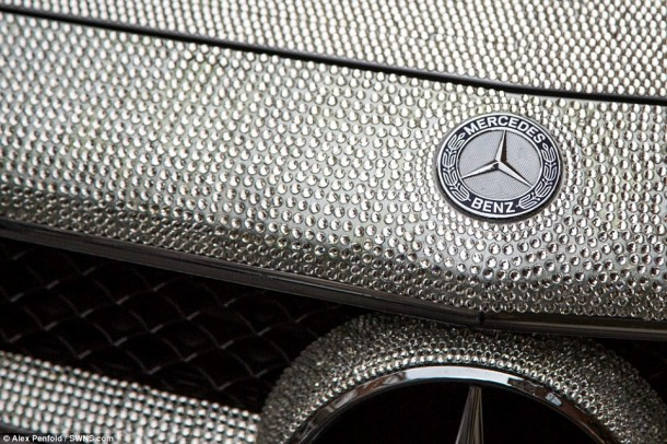 Crystal Covered Mercedes CLS 3509