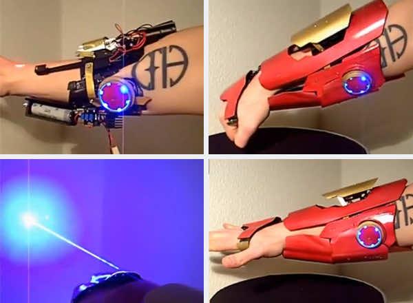 DIY Iron Man Gauntlet Capable of Firing Actual Rockets
