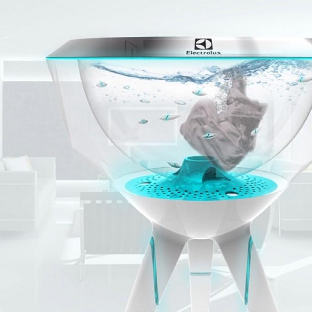 Pecera dofi Robotic Fish washing6