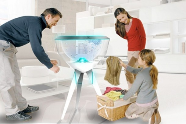 Pecera dofi Robotic Fish washing8