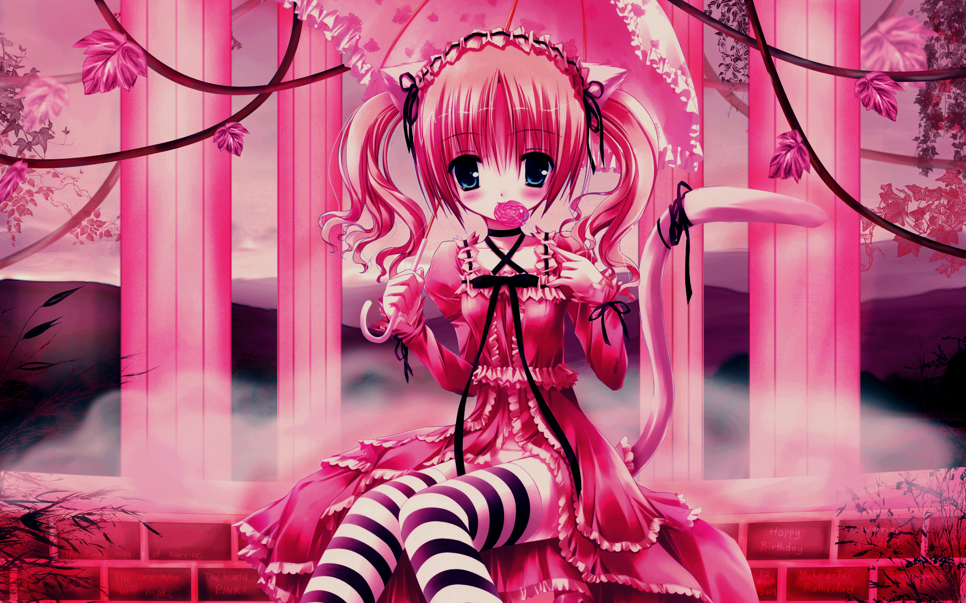 Pink Anime Wallpaper 1920×1080
