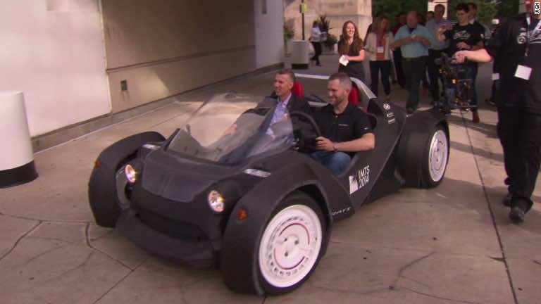 Strati world s first 3d printed car for Local motors 3d printed car