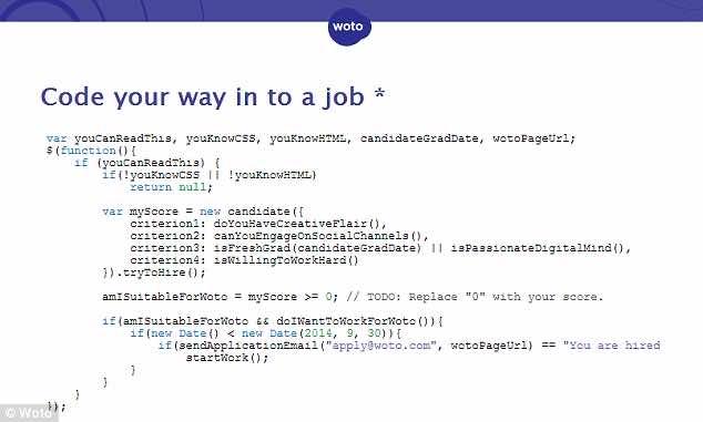 WOTO Job advert6