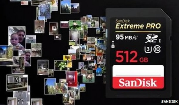 World's Biggest SD Card by SanDisk Costs $800 and Has a Capacity of 512 GB4