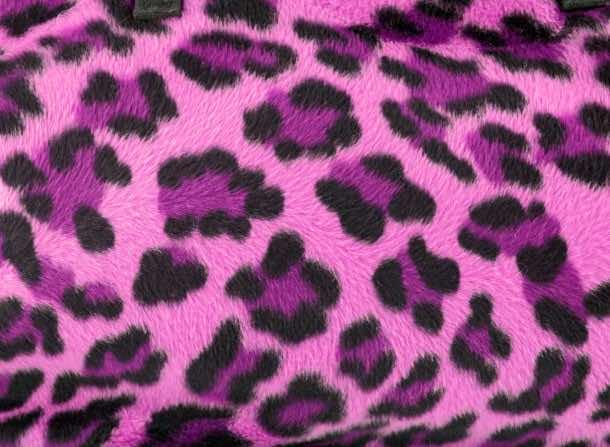 Pink leopard faux fur background