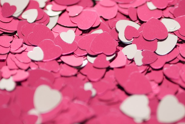 Pink love hearts