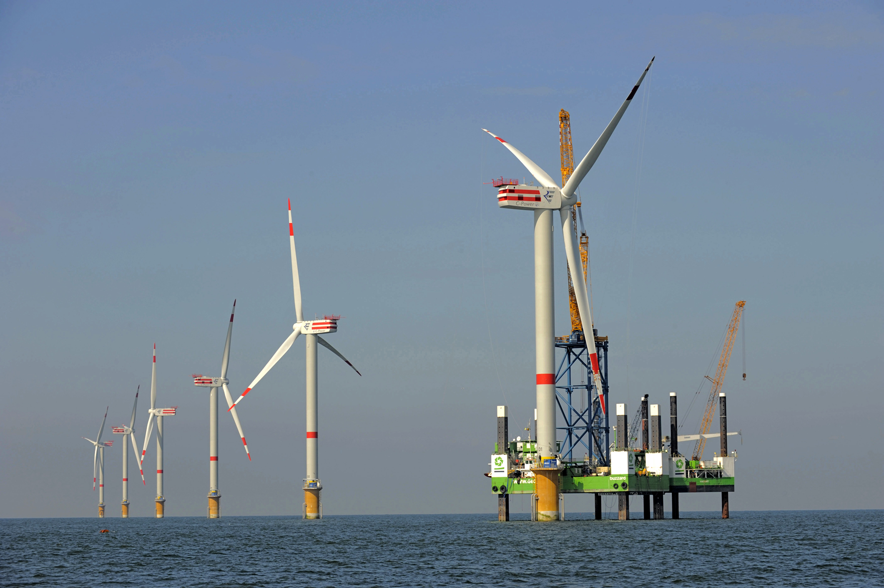 Aufbau Offshore-Windpark Thornton Bank, Belgien
