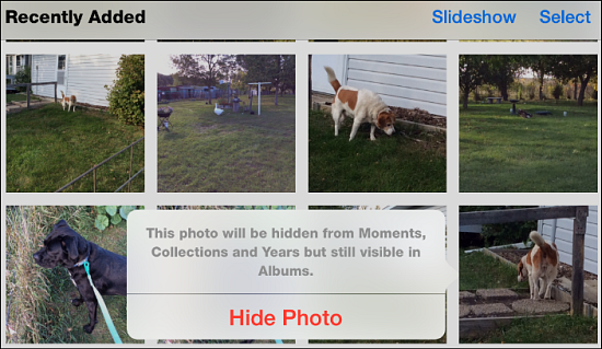 10. Hide photos in the Recently Deleted folder