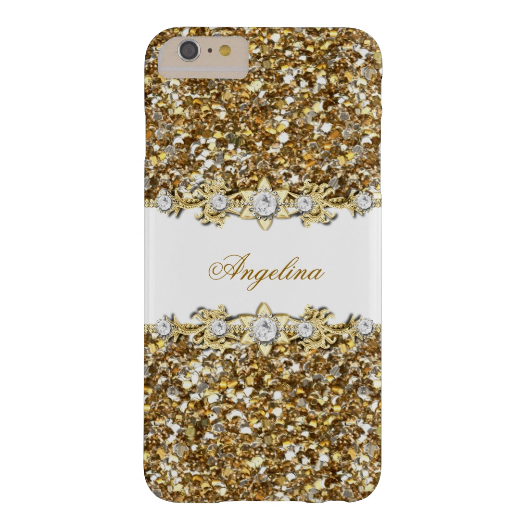 4. Silver White Gold Diamond Jewel Glitter Barely There iPhone 6 Plus Case