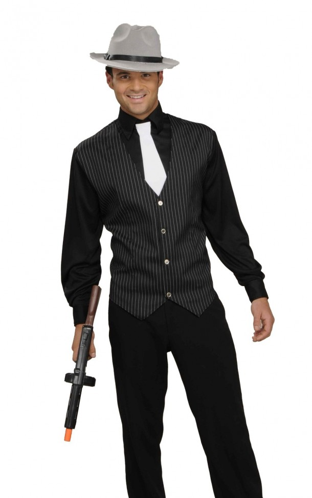 5. Men's Gangster Shirt, Vest And Tie Costume