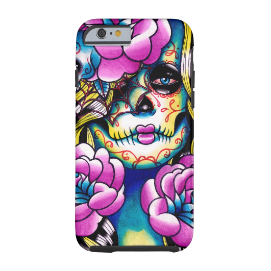 6. Wash Away Sugar Skull Girl iPhone 6 Case