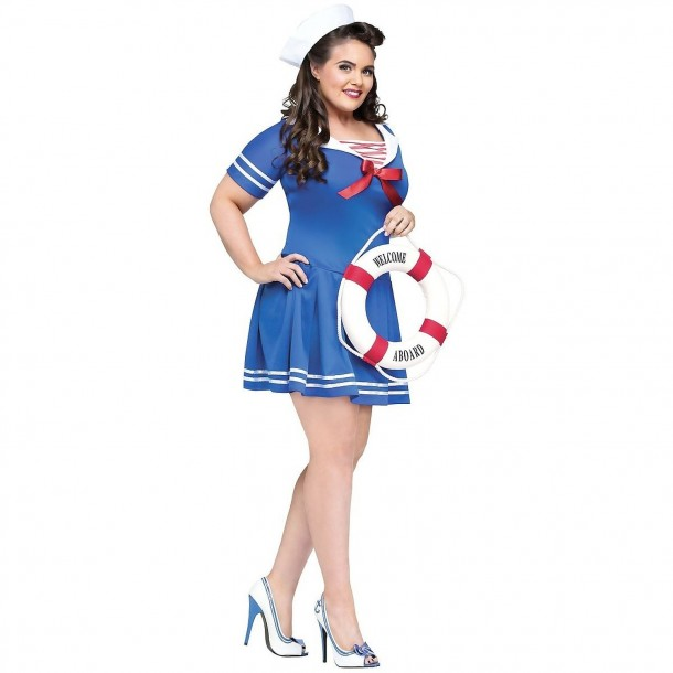 7. Plus Size Anchors Away Costume