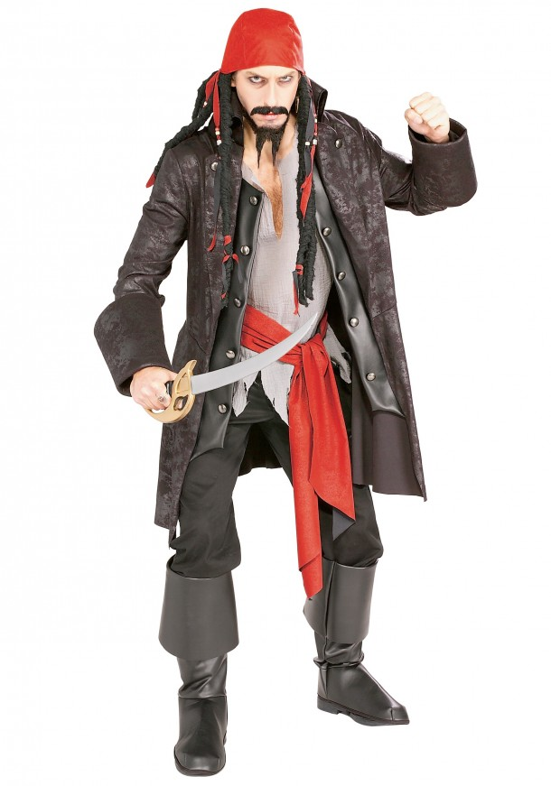 8. Adult Captain Cutthroat Pirate Costume
