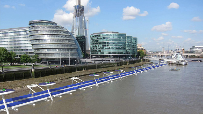 Floating Cycle Path on River Thames2