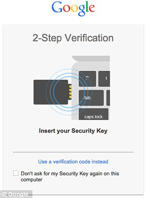 Google Security Key – Stepping up Security3