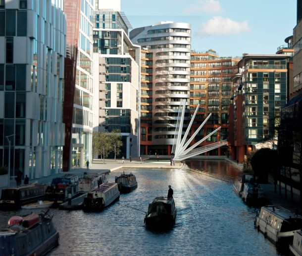 Merchant Square Footbridge – Japanese Fan4