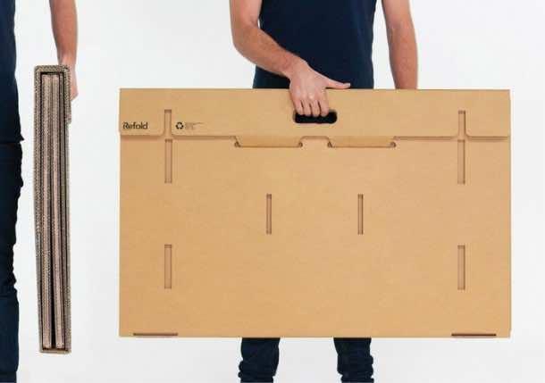 Refold's Cardboard Standing Desk