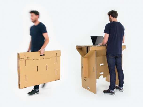 Refold's Cardboard Standing Desk2