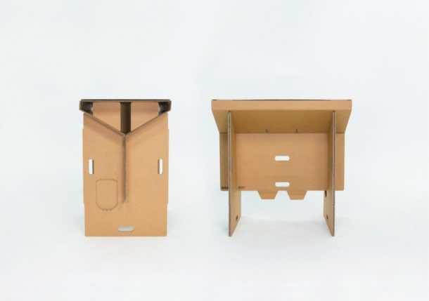 Refold's Cardboard Standing Desk4