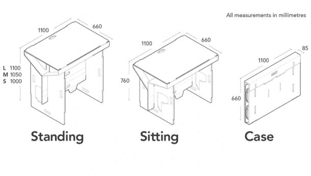 Refold's Cardboard Standing Desk7