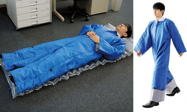 Wearable futon... for those late nights at the office!