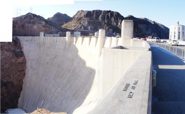 Panorama of Hoover Dam (5 pics)