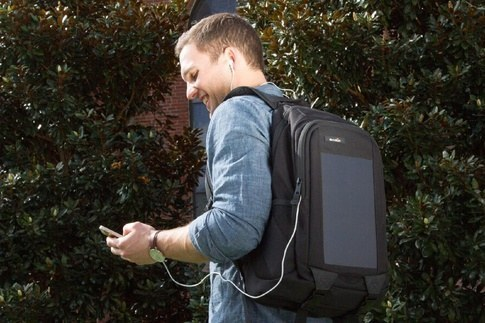 12. A solar-powered backpack