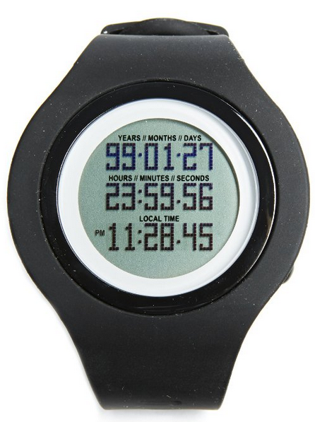 9. A watch that counts down to your estimated time of death