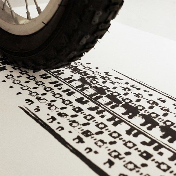 Bicycle Tire Art – 100 Copies