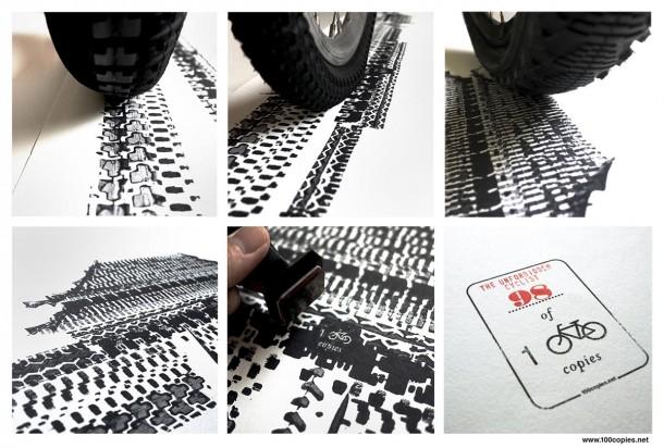 Bicycle Tire Art – 100 Copies5