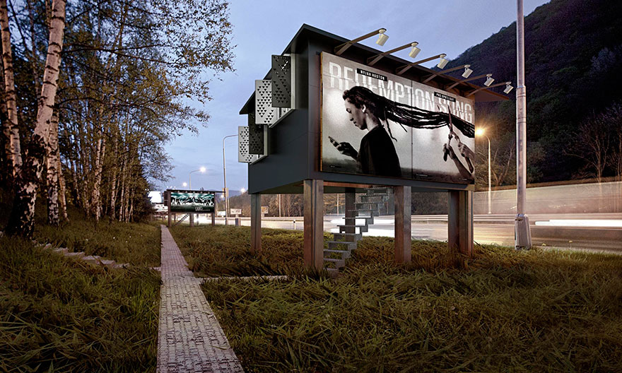 Billboard with Built-in Shelter – Project Gregory6