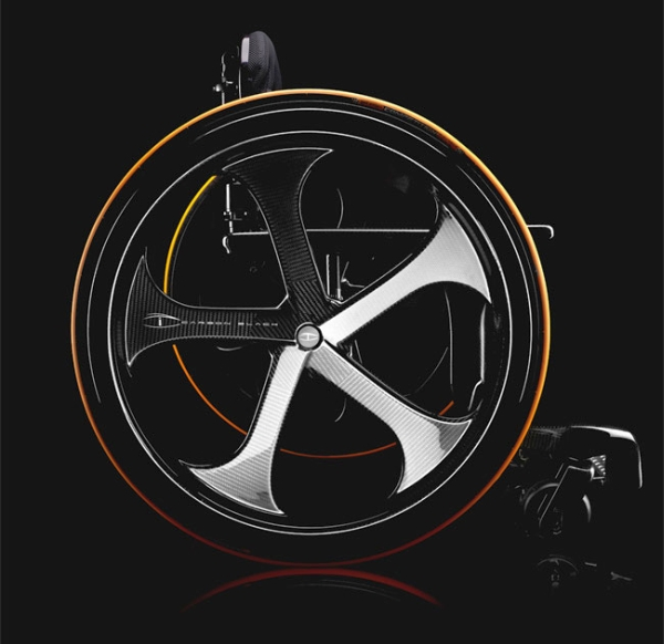 Carbon Black – Stylish Wheelchair2