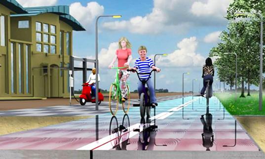 Netherlands Opening Solar Powered Bike Path - SolaRoad2