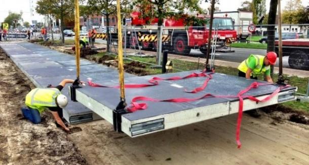 Netherlands Opening Solar Powered Bike Path - SolaRoad3