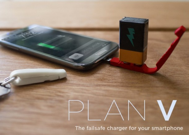 Plan V – Charge Your Smartphone with a 9 Volt Battery