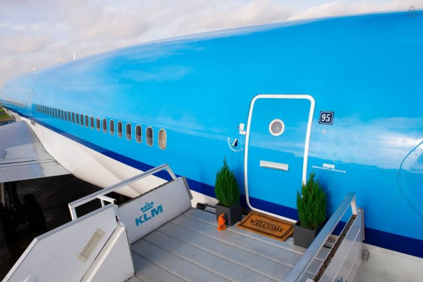 The Grounded Airplane Apartment - KLM Airplane Project for Airbnb